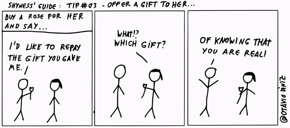 Shyness Guide: Tip 03 – Offer A Gift To Her